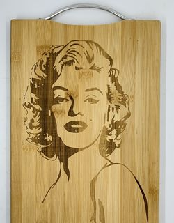 Marilyn monroe laser engraved bamboo high quality cuttingboard pop gift for Sale in Los Angeles,  CA
