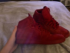 Red suede retro Jordan 1 size 10 for Sale in Live Oak, TX