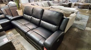 NEW, SOFA and LOVESEAT-- POWERED, WIRLESS CHARGER, LEATHER, BLACK. for Sale in Santa Ana, CA