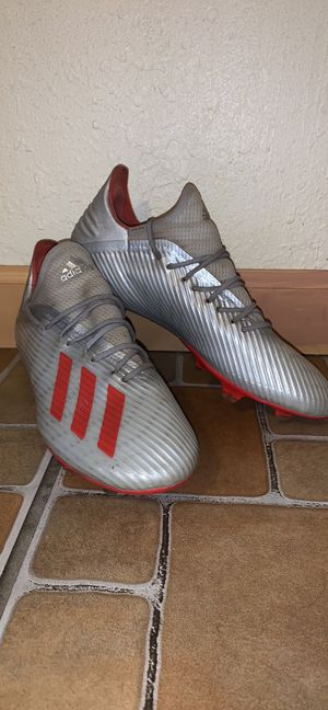 Adidas X 19.1 FG white/red/silver firm ground soccer cleats for Sale in Calexico, CA