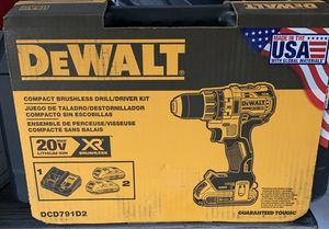 DeWalt 20-Volt MAX XR Lithium Ion Brushless Compact Drill / Driver Kit for Sale in Marietta, GA
