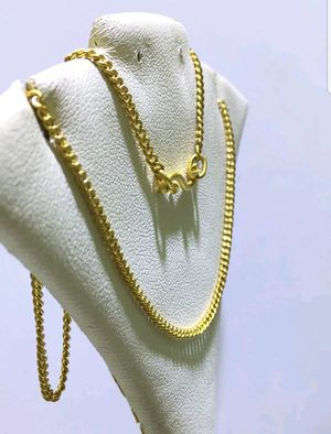 24k Solid Yellow Gold Flexible Thin Curb Chain Necklace for Sale in Everett, MA