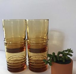 Vintage Amber Libbey Glasses for Sale in Whittier,  CA