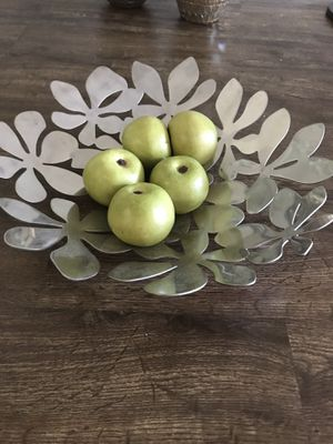 Ikea bowl with green apples, home decor for Sale in Los Angeles, CA