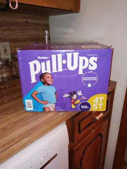 Huggies Boy Pull-ups 4T 5T 102ct lso I Have Goodnites Underware S/M 38-65LBS 74ct for Sale in North Little Rock,  AR