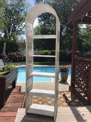 White Wicker shelve. 73x21 for Sale in Somerdale, NJ