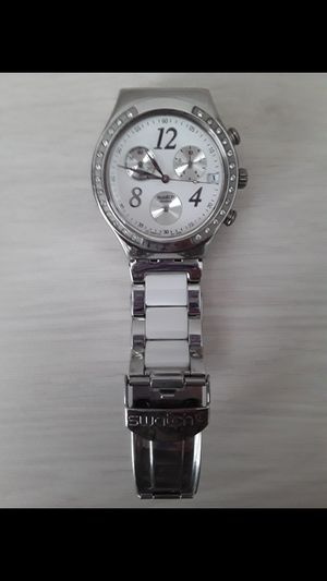 Swatch Irony Made in White Dial Stainleess Steel Unisex Watch for Sale in Kissimmee, FL