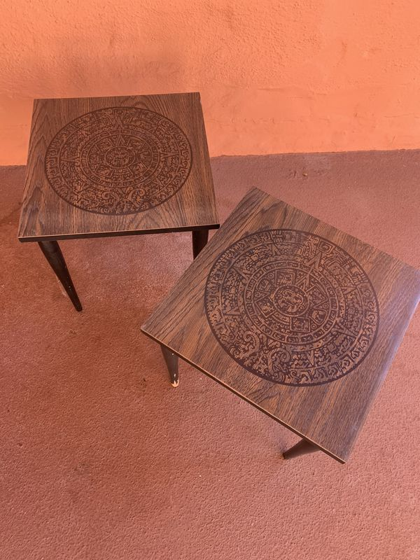 Mid Century Formica side tables