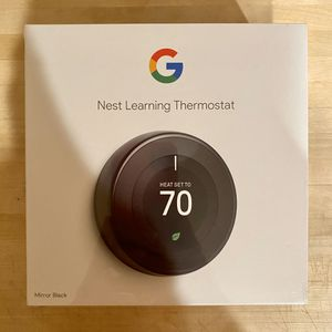 BRAND NEW Nest Learning Thermostat (Mirror Black) 3rd Generation for Sale in Tigard, OR