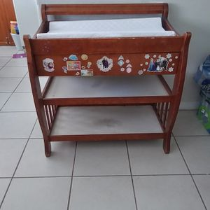baby table the wood is a little worn but still good firm price for Sale in Fort Myers, FL
