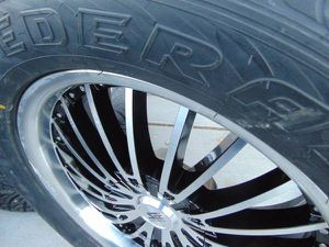 """Brand New 20"""" Black & Silver Rims & 305 50 20 Federal Tires*6X135 Ford for Sale in Aurora, CO"""