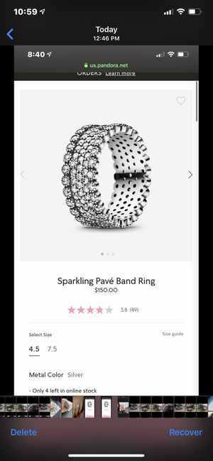 Pandora ring for Sale in New Britain, CT