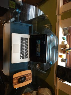 Glass and steel desk with shelves for Sale in Philadelphia, PA