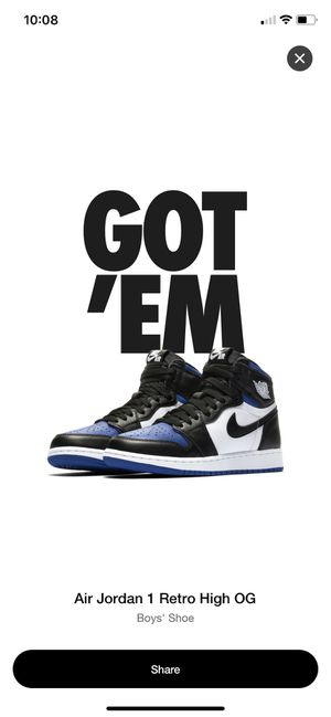 "Brand new Jordan 1s "" royal toes "" size 5y for Sale in Oxon Hill, MD"