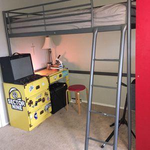 IKEA Metal Frame Loft Bed for Sale in Ridgefield, WA