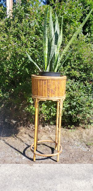 vintage tall bamboo plant stand for Sale in Sumner, WA