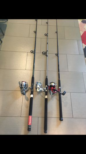 3 combos daiwa, quantum, braided line, 40 each or all for 100 for Sale in Miami, FL