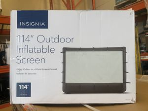 """Insignia 114"""" Outdoor Inflatable Screen TV NS-SCR117 Brand New for Sale in Santa Ana, CA"""