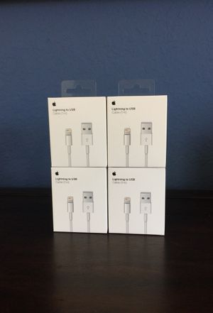 "4X Original OEM Cable Charger for Apple iPhone 42"" Inches for Sale in Port St. Lucie, FL"