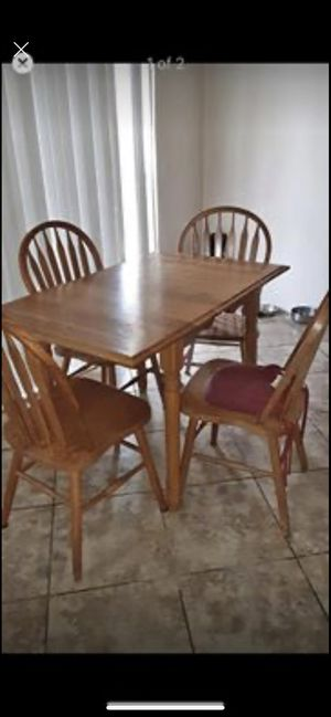 Small Drop Leaf Table and Four Chairs for Sale in Queen Creek, AZ