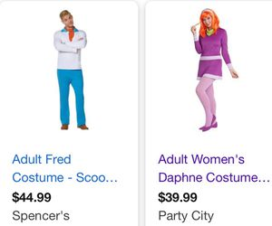 Fred and Daphne Scooby-Doo Halloween Adult Costumes for Sale in Scappoose, OR