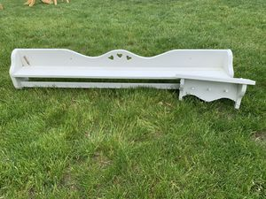 White long and short shelves for Sale in Mars, PA
