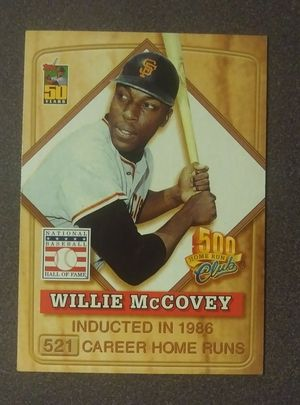 2001 Topps Willie McCovey San Francisco Giants S.F. Post Cereal 500 Club HOF #4 Baseball Card Collectible Vintage MLB for Sale in Salem, OH