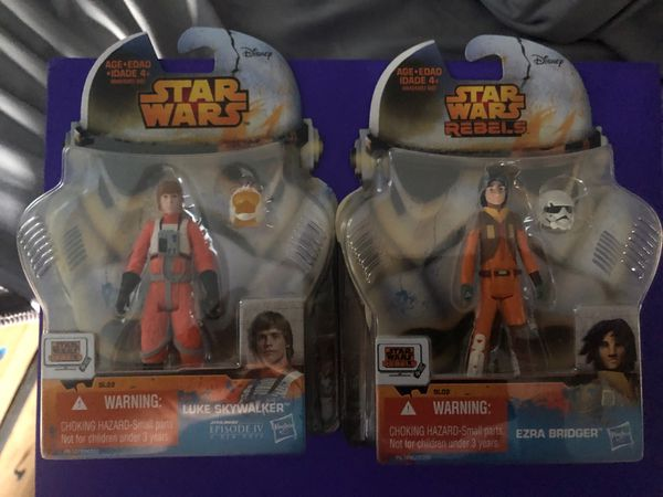 Star Wars Rebels action figures Both Luke Skywalker And Ezra Bridger