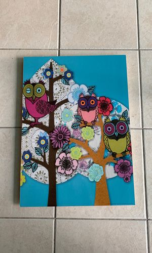 Owl decor picture for Sale in Pembroke Pines, FL