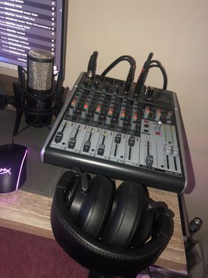 Behringer Mixer + AKG Xlr Microphone + Sterling Studio Headphones for Sale in Spring Lake, NC