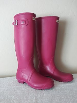 Hunter Pink Rain Boots 8 for Sale in Surprise, AZ