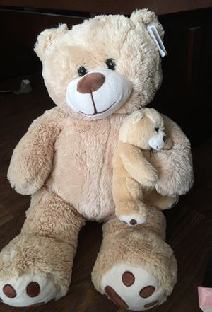 Large stuffed bear and baby for Sale in Arlington, TX