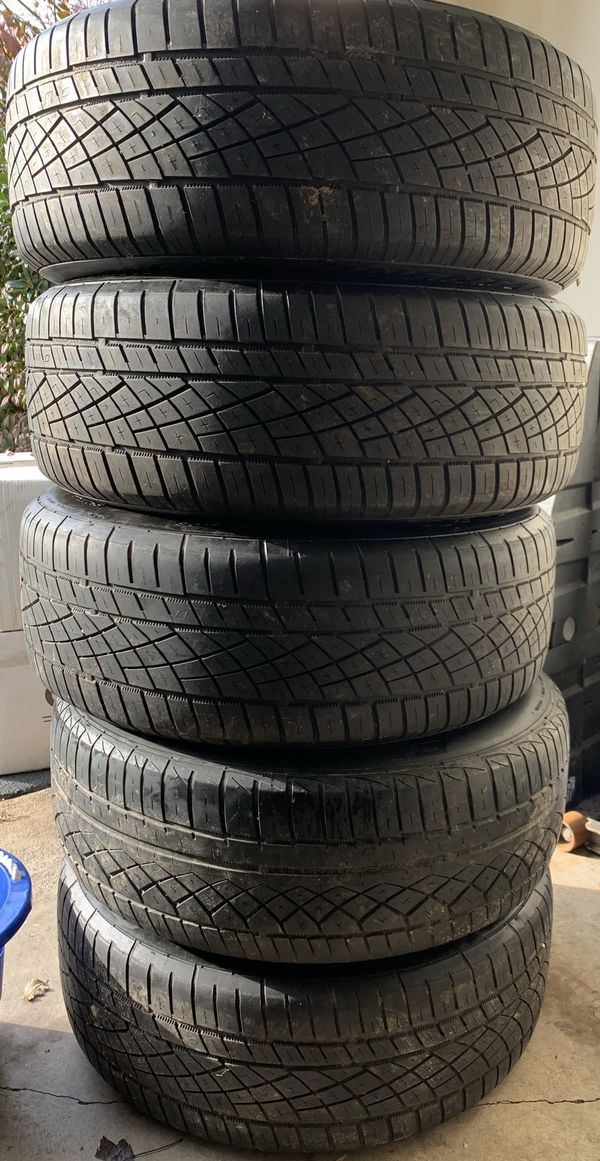 """(Set of 5) 17"""" Sport Edition Wheels & Continental Tires"""