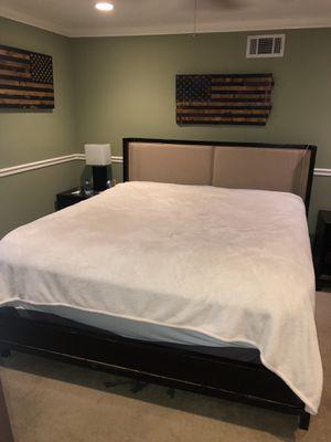 California King Panel upholstered Bed frame for Sale in Largo, FL