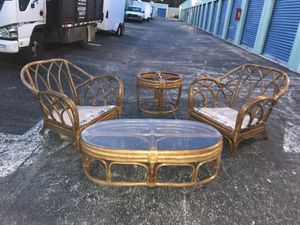 RATTAN OUTDOOR Bamboo furniture!! for Sale in Delray Beach, FL