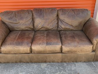 Brown Leather Couch FREE DELIVERY!! for Sale in Austin,  TX