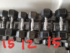 Rubber Dumbbell Set Dumbbells - Various Pairs available - READ POST for Sale in Mansfield, TX