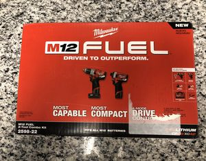 "Milwaukee 2598-22 Fuel 2 Pc Kit- 1/2"" Hammer Drill & 1/4"" Impact #13835-1 for Sale in Boston, MA"