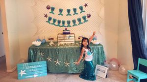 Mermaid birthday bash decor for Sale in Zephyrhills, FL