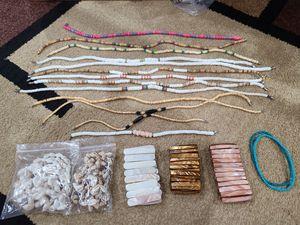 Lot of Shell Necklaces, Bracelets & 2 Ankle Bracelets - $10 for Sale in Ruston, WA