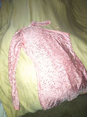 A cute dress with rhinestones on it with a choker attached with one sleeve. for Sale in Fresno, CA