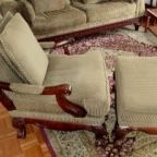 Mahogony Framed Chair And Ottoman for Sale in New Britain, CT