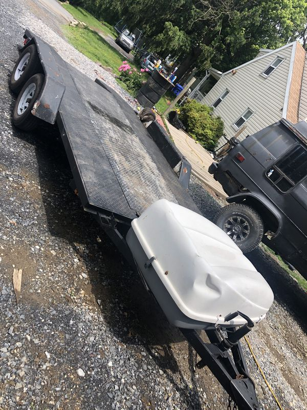 16' 7k open deck car trailer