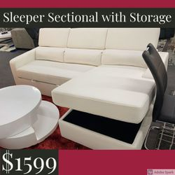 Sleeper Sectional with Storage for Sale in Tampa,  FL