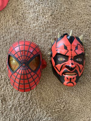 Darth Maul and Spider-Man Masks for Sale in Lincoln, CA