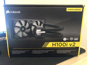 corsair h100i v2 240mm aio with rgb for Sale in Hayward, CA