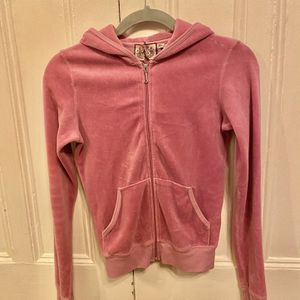 Juicy Couture Zipped Hoodie Velvet Pink Size XS for Sale in Queens, NY