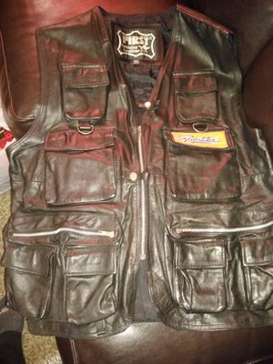 Leather Motorcycle Vest Harley Davidson Patch for Sale in Selma, CA