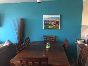 Dining table and chairs- solid wood for Sale in Portland, OR