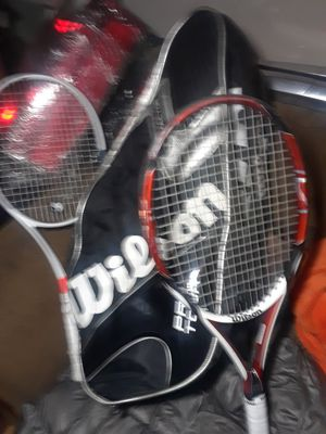 Nice tennis Wilson bag wit two tennis rackets for Sale in Dallas, TX